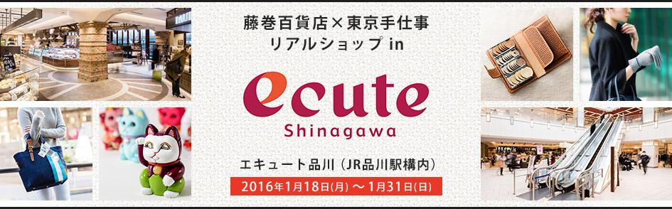 藤巻百貨店 × 東京手仕事 リアルショップ in ecute 品川